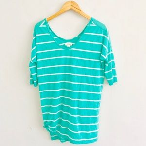 Aerie Mint Striped Tunic Short Sleeve T-Shirt